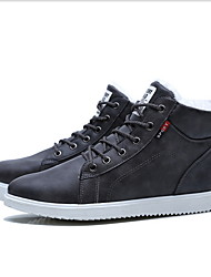 cheap -Men's Comfort Shoes PU Winter Sneakers Black / Gray