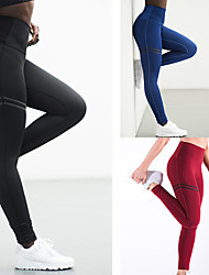 cheap -Women's High Waist Yoga Pants Leggings Tummy Control Butt Lift Quick Dry Stripes Black Red Blue Gym Workout Exercise & Fitness Running Sports Activewear High Elasticity Skinny