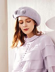 cheap -Wool Hats with Pom-pom 1pc Casual / Daily Wear Headpiece