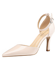 cheap -Women's Heels Stiletto Heel Pointed Toe PU Minimalism Spring & Summer Black / Almond / Red / Party & Evening