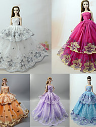 cheap -Doll accessories Doll Clothes Doll Dress Wedding Dress Party / Evening Princess Lolita Ball Gown Lace Tulle Lace Cotton Blend Silk / Cotton Blend For 11.5 Inch Doll Handmade Toy for Girl's Birthday
