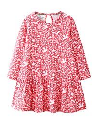 cheap -Kids Girls' Floral Dress Red