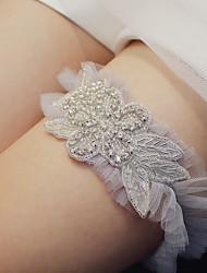 cheap -Chinlon / Metal Wedding / Simple Style Wedding Garter With Ruching Garters Wedding Party