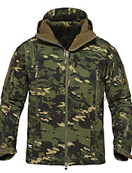 cheap -Men's Hunting Jacket Outdoor Thermal / Warm Windproof Wearproof Comfortable Spring Fall Winter Camo Terylene Camouflage Gray Camouflage