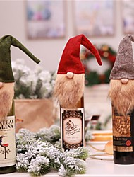 cheap -Christmas Elf Bottle Set Christmas Ornaments For Red Wine Bottle Decoration Party Bar New Year Decoration