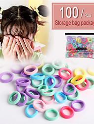 cheap -Women's Dainty Ladies Fashion Plastic Rubber Hair Ties Hair Jewelry Hair Rings Party School