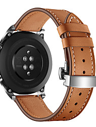 cheap -Fashion Watch Band Silver Butterfly Buckle Genuine Leather Strap Bracelet Belt for Huawei Honor Magic