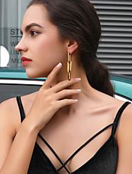 cheap -Women's Ear Piercing Drop Earrings Hoop Earrings Tassel Vertical / Gold bar Trendy Fashion Stainless Steel S925 Sterling Silver Earrings Jewelry Gold For Gift Daily Carnival Festival 1 Pair