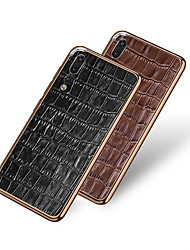 cheap -Case For Huawei Huawei P20 / Huawei P20 Pro / Huawei Mate 20 pro Shockproof Back Cover Geometric Pattern Genuine Leather / Aluminium