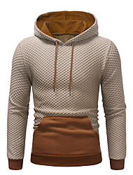 cheap -Men's Casual / Street chic Hoodie - Solid Colored Black US34 / UK34 / EU42