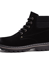cheap -Men's Comfort Shoes PU Fall & Winter Boots Booties / Ankle Boots Black / Beige / Gray