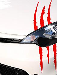 Недорогие -40 см х 12 см забавный стикер автомобиля светоотражающий монстр царапина полоса коготь марки авто фара украшения виниловые наклейки наклейки на автомобиль