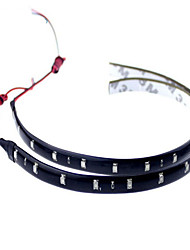 cheap -10pcs 12V 30cm 15LED 3528 SMD Waterproof Car Auto Flexible Strip Lights For Car Auto Bike Motorcycle Truck Decoration Lighting