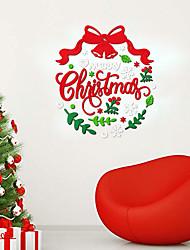 cheap -Christmax Jinglebell wall stickers acrylic door decorative decals Kids' room wall decors