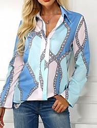 cheap -Women's Daily Shirt - Geometric Purple