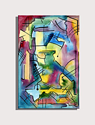 cheap -Print Rolled Canvas Prints Stretched Canvas Prints - Abstract Characters Modern Art Prints