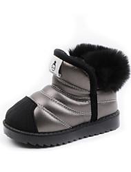 halpa -Tyttöjen Comfort Mokkanahka Bootsit Pikkulapset (4-7 vuotta) Musta / Hopea / Punainen Talvi / Nilkkurit