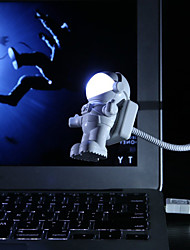 cheap -Flexible Spaceman Astronaut USB Tube LED Night Light Lamp For Computer Laptop PC Notebook Reading Portable