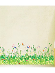cheap -Spring Wild Dog Tail Grass Bush Butterfly Baseboard Bedroom Living Room Balcony Corner Decoration AY7151
