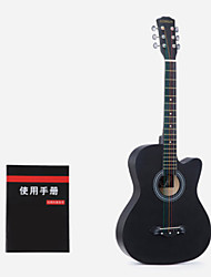 cheap -Beginner 38 Inch Black Guitar