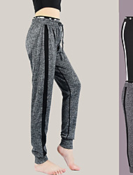 cheap -Women's High Rise Yoga Pants Winter Harem Drawstring Black Gray Running Fitness Gym Workout Bottoms Sport Activewear Breathable Quick Dry Soft High Elasticity Loose