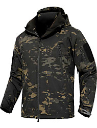 cheap -Men's Hunting Jacket Outdoor Thermal / Warm Windproof Comfortable Protective Spring Fall Winter Camo Terylene Camouflage
