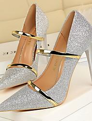 cheap -Women's Heels Stiletto Heel Pointed Toe Rubber / PU Spring &  Fall Black / Dark Brown / White / Daily