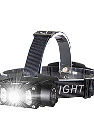 cheap -Headlamps LED 5 Emitters Portable Adjustable Wearproof Durable Camping / Hiking / Caving Everyday Use Cycling / Bike Black
