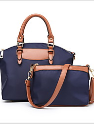 cheap -Women's Oxford Cloth Crossbody Bag Solid Color Black / Almond / Blue