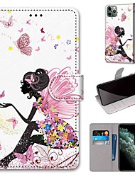 cheap -Case For Apple iPhone 11 / iPhone 11 Pro / iPhone 11 Pro Max Wallet / Card Holder / with Stand Full Body Cases Sexy Lady PU Leather / TPU