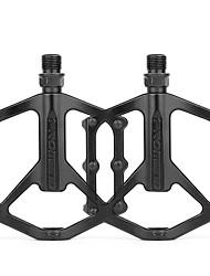 cheap -Bike Pedals 1 Bearing Aluminum Alloy for Cycling Bicycle Road Bike Mountain Bike MTB Black