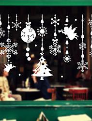 cheap -Window Film & Stickers Decoration Cartoon / Christmas Holiday / Character PVC(PolyVinyl Chloride) Window Sticker / Cute / Door Sticker