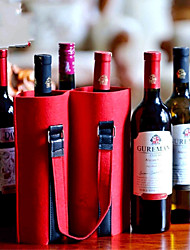 cheap -Hot Selling Felt Red Wine Bag Wholesale Customized