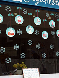 cheap -MU80018 new Santa Claus snow glass window stickers can be removed foreign trade Christmas creative decorative stickers