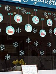Недорогие -mu80018 новый Санта-Клаус снежное стекло наклейки на окна могут быть удалены внешняя торговля рождественские творческие декоративные наклейки