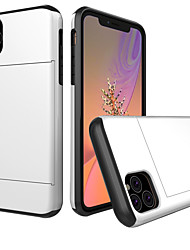cheap -Case For Apple iPhone 11 / iPhone 11 Pro / iPhone 11 Pro Max Card Holder / Ultra-thin Back Cover Solid Colored TPU for iPhone  XS XR X XSmaX 8 8plus 7 7plus 6 6S 6PLUS 6SPLUS