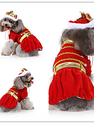 cheap -Dog Cat Dress Tuxedo Vest Fashion Christmas Dog Clothes Red Blue Costume Polyester Canvas Mixed Material S M L XL