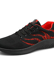 cheap -Men's Light Soles Tissage Volant Spring & Summer Sporty Athletic Shoes Running Shoes Breathable Color Block Black and White / Black / Red
