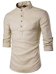 cheap -Men's Solid Colored Long Sleeve Pullover Sweater Jumper, Turtleneck Black / Wine / Light gray US32 / UK32 / EU40 / US34 / UK34 / EU42