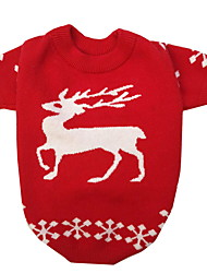 cheap -Dog Sweater Winter Dog Clothes Red Costume Polyster Deer Cosplay Christmas S M L XL XXL