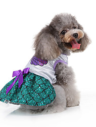 cheap -Dog Cat Vest Christmas Christmas Dog Clothes Green Costume Polyester Canvas Mixed Material S M L XL