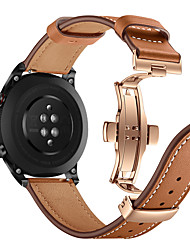 cheap -Fashion Watch Band Rose Gold Butterfly Buckle Genuine Leather Strap Bracelet Belt for Huawei Honor Magic