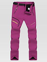 cheap -Women's Hiking Pants Stripes Winter Outdoor Waterproof Windproof Fleece Lining Warm Softshell Pants / Trousers Bottoms Ski / Snowboard Climbing Camping / Hiking / Caving Black Dark Grey Fuchsia S M L