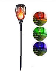 Недорогие -лампа для внутреннего дворика звезда солнечная светодиодная лампа факел цвет RGB цвет красочные пламя газон лампа садовая лампа пейзаж лампа