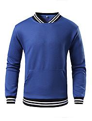 cheap -Men's Casual / Basic Sweatshirt - Print Blue US38 / UK38 / EU46
