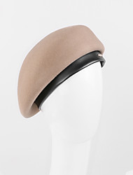 cheap -100% Wool Hats with Cap 1pc Casual / Daily Wear Headpiece