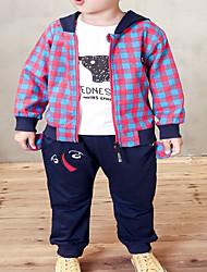 cheap -Baby Boys' Basic Print / Houndstooth Long Sleeve Regular Regular Clothing Set Black