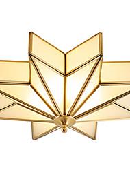 cheap -3-Light Flush Mount Lights Antique Brass Metal Glass 110-120V / 220-240V