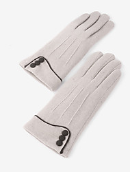 cheap -Wool Wrist Length Glove Artistic Style / Gloves With Button