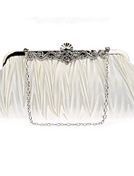 cheap -Women's Beading / Embroidery Silk Evening Bag Solid Color Black / White / Purple